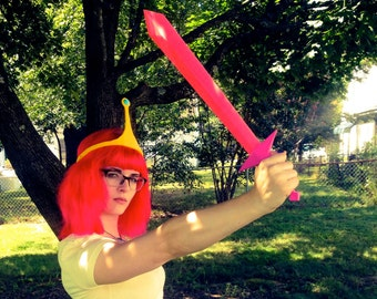 Fionna Crystal Sword Cosplay Adventure Time 3D Printed Fan Art