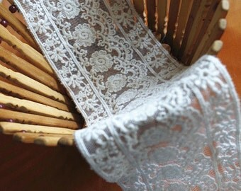off white lace trim, cotton embroidered lace fabric, trim lace