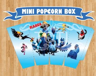 Rio 2 | Mini Popcorn Box [DIGITAL FILE ONLY]
