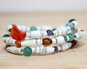 Harry Potter Recycled Book Bracelet Set, Paper Bead Bracelet Made From Harry Potter Book Pages, Prisoner of Azkaban, Book Bracelet
