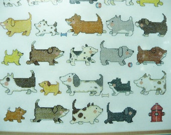 """I Love Dogs, Needle Treasures Counted Cross Stitch Kit, 12"""" x 16"""", 04641"""