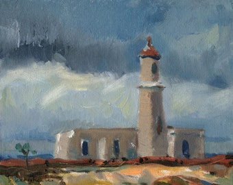"SALE ""Light house"" Oil Painting by B. Kravchenko for SEASTYLE"