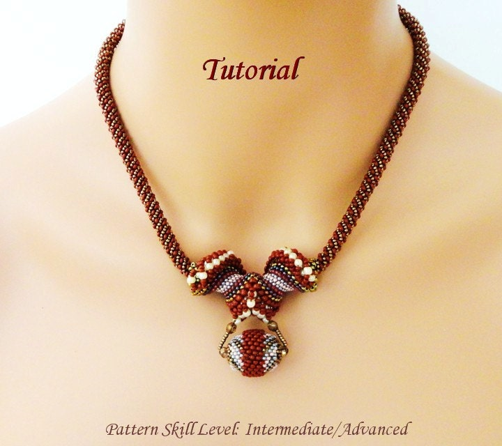 Beads Necklace Beads: BIG HORN Cellini Spiral Beaded Necklace Beading Tutorials And