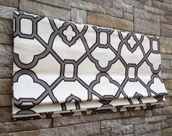 HGTV House Hunters Renovation | Flat Roman Shade Window Treatment in Geometric  Print | Custom Design