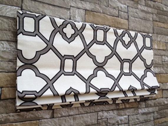 hgtv house hunters renovation flat roman shade window treatment in geometric print custom design - House Hunters Renovation Casting