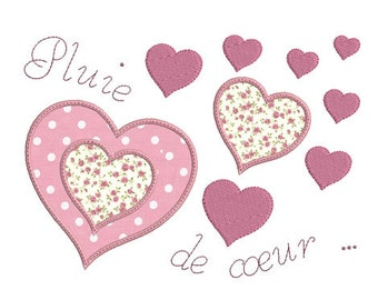 Instant download Rain of heart embroidery design download