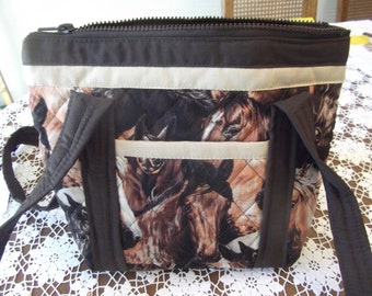 Horses Quilted Purse