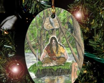 Alder Celtic Tree Ogham Voice of the Trees Ornament/ Car Charm