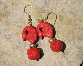 Nicole Wong earrings in cinnabar