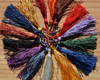 New colors for silky cotton mala tassels, sold singly