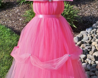 READY TO SHIP: Tutu Dress - Halloween or Birthday Costume - Pink - Princess Ball Gown - 3-4 Toddler Girl - Cutie Patootie Designz