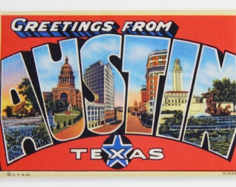 Greetings from Austin Texas Fridge Magnet