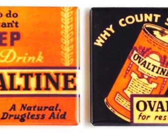 Drink Ovaltine Fridge Magnet Set