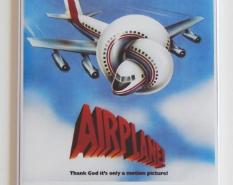 Airplane Movie Poster Fridge Magnet