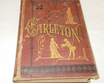 Works Of Carleton 1880 First Edition P F Collier Unabridged Illustrated Edition Antique Book Irish Life