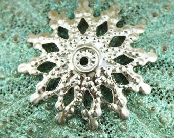Silver Filigree Iron Bead Cap (50 pcs) S39