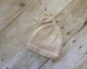 Newborn Beanie / Cap in Vanilla RTS / Photo  Prop / Photographer