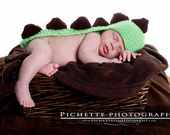Newborn Baby Dinosaur Costume - Crochet Dinosaur Prop - Dinosaur - Photography Prop -  Halloween Costume - Dino Hat