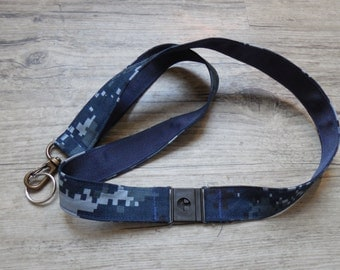 Navy NWU Military Safety Lanyard, Navy NWU Safety Breakaway Lanyard, Navy Lanyard , Navy Fabric Lanyard, Armed Forces