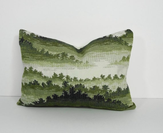 Decorative Lumbar Pillow Cover Forest Green Pillow by pillows4fun