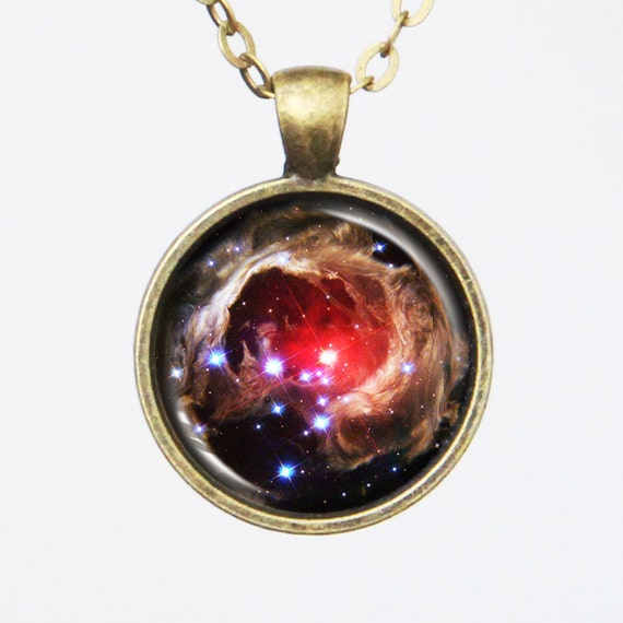Galaxy Photo Necklace - Variable Star V838 Monocerotis - Galaxy Series (G031)
