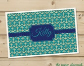 Anchor -  Personalized Placemat, Customized Placemats, Custom Placemat, Personalized Gift