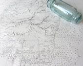 Nautical Decor:  Vintage Nautical Chart - Saint Vincent - West Indies AUTHENTIC NAUTICAL CHART