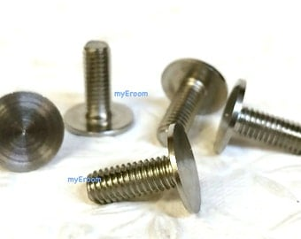 Flat head Bolt Screw x 5 for Cake Stand Fitting - 12mm 16mm 19mm length 6mm hole