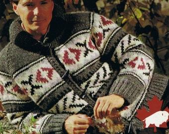 Cowichan Sweater White Buffalo Wool  Indian Blanket Sweater Knitting Pattern Instant Download on Etsy
