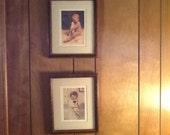 Vintage Bessie Pease Gutmann children's prints framed