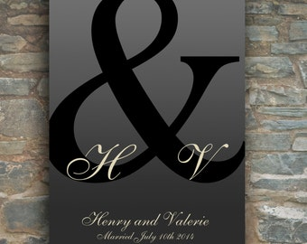 Monogram for House Warming Gift | Newlyweds New Couple | BRIDE GROOM GIFT | Personalized Bridal Shower Gift | Custom Monogram Art Print 06