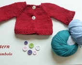 Pattern for knitted doll cardigan JETTE, doll cardigan pattern, knitting for dolls, coat for dolls