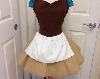 Cinderella work costume apron dress