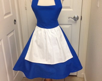 Belle peasant apron dress