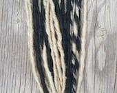 30 Ash Blonde/ Black Single Ended Dread Extensions