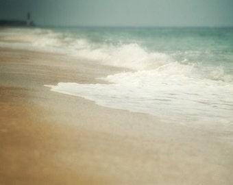 Beach Decor, Wave Photograph, Ocean Picture, Blue,Tan and White Wall Art, Sea Photography, 16x20 Fine Art Print
