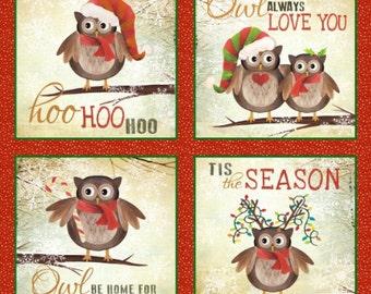 Elizabeth's Studio - Owl Be Home for Christmas Panel