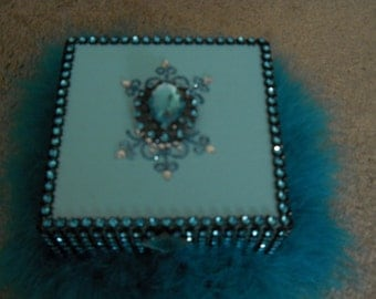 Bling Tourquoise Jewelry/Keepsake Box