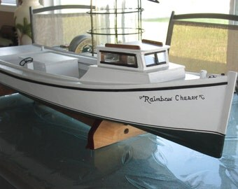 Hand made Chesapeake Bay model Deadrise boat by ...