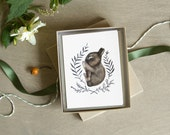 Sleeping Baby Bunny Card Set 6pc Blank Woodland A2 Note Cards