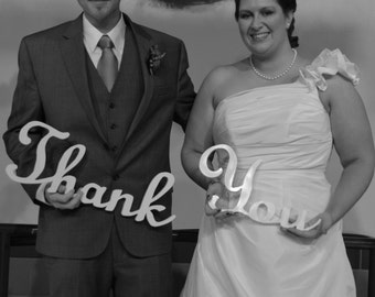 THANK YOU sign for wedding photography