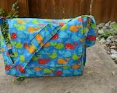 Large Blue Whale Diaper Bag
