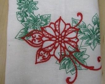 Christmas Poinsettia Towel - EXTRA STOCK