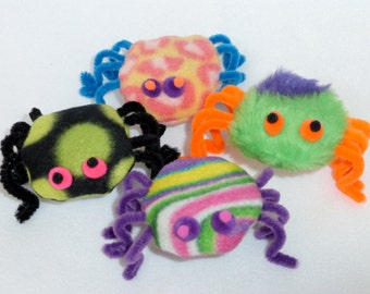 Spider Cat Toy Assorted Fleece