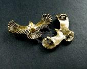 10pcs 20x35mm vintage style antiqued bronze eagle bird connector DIY pendant charm supplies findings 1810334