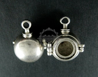 6pcs 12mm round setting size vintage style antiqued silver steam punk DIY pendant charm supplies findings 1830037