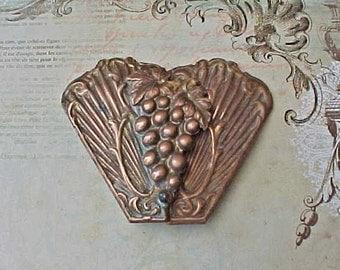 Beautiful Art Nouveau Era 2 Piece Sash Buckle with Grape Cluster