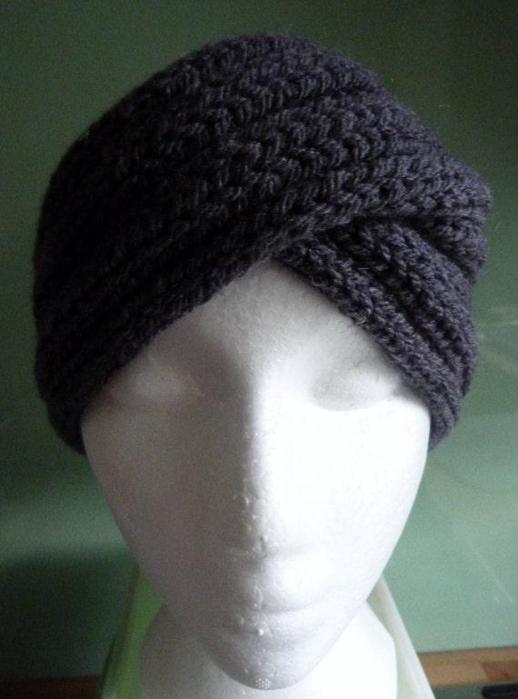 Headband, Ear Warmer, Turban, Twist Headband, hand knit, ready to ship
