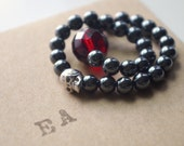 Blood and Bone Hematite Bracelet