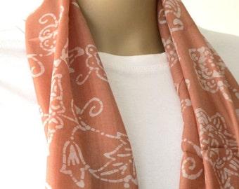 SALE Handprinted Silk scarf
